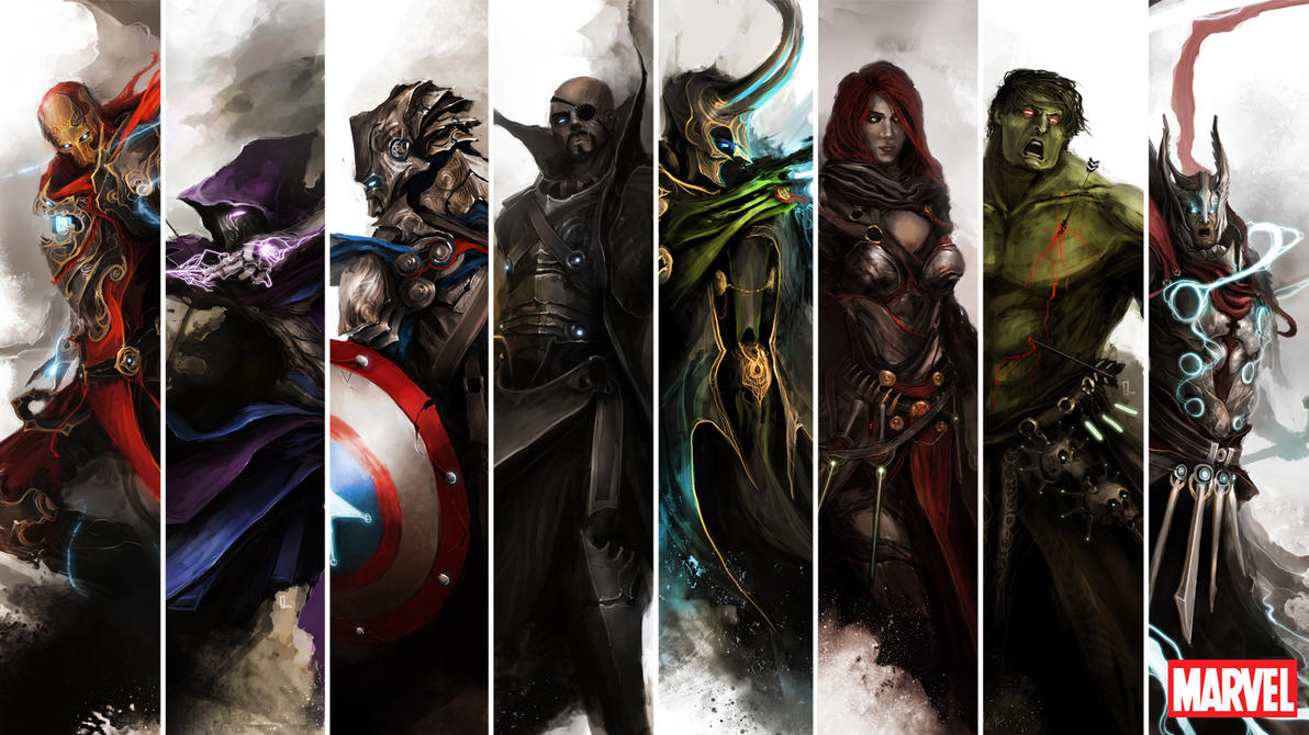 Top Wallpaper Home Screen Avengers - the_avengers_by_thedurrrrian-d55trk8  Graphic_295434.jpg