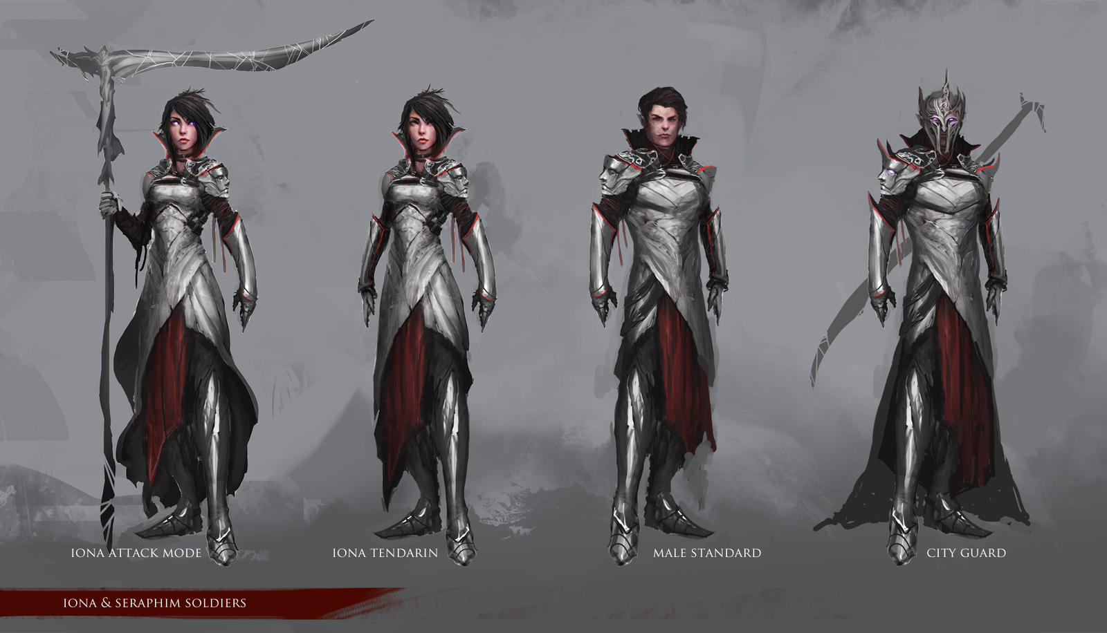 Character Design: Iona and Seraph soldiers by theDURRRRIAN