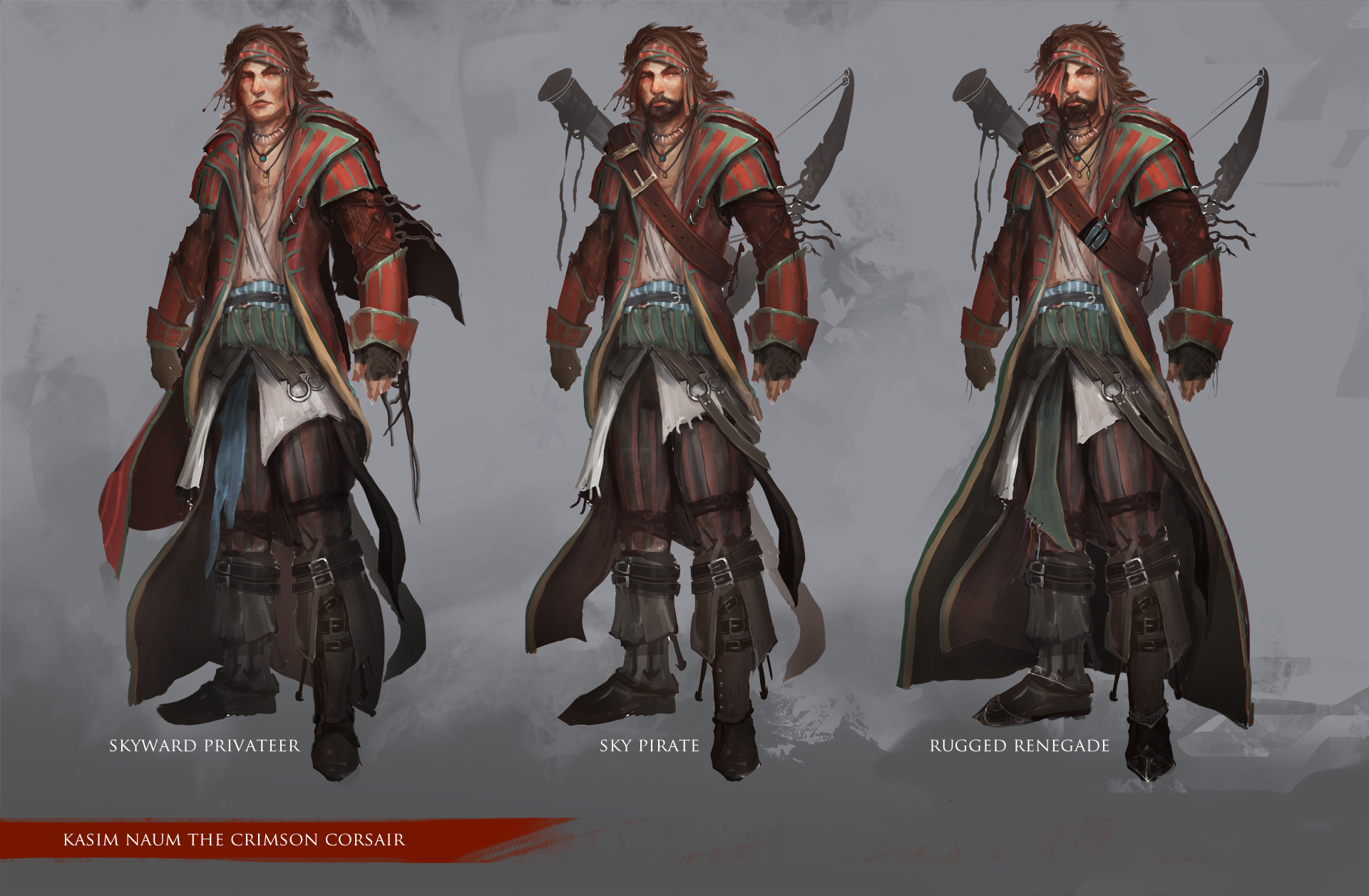A3 Helmet Level 3 And Pan: Character Design: Kasim The Crimson Corsair By