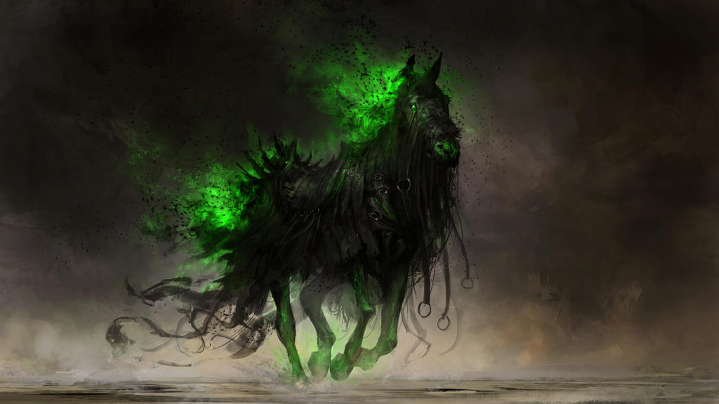 Fear, the black horse of famine by theDURRRRIAN on DeviantArt