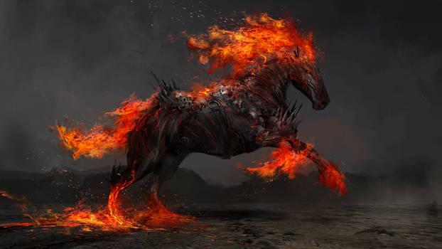 Ruin, the fiery horse of war