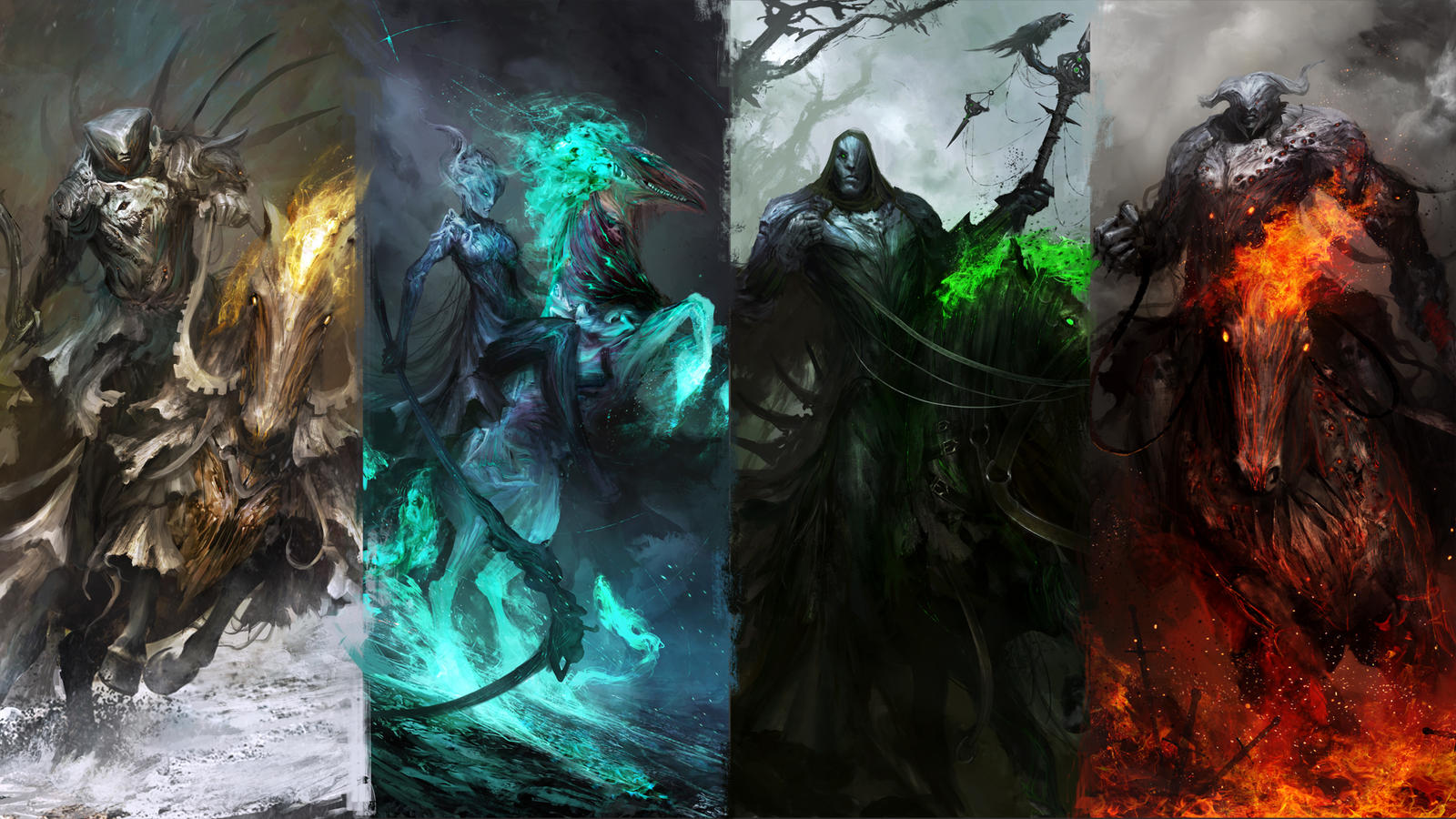 The Four Wallpapers of the Apocalypse by theDURRRRIAN