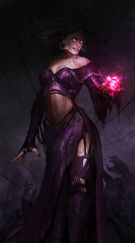 Liliana Vess and the pink hand of DOOM!