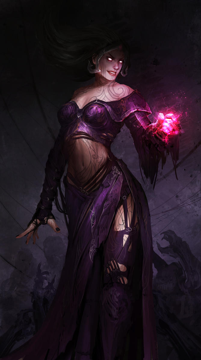 Liliana Vess and the pink hand of DOOM! by theDURRRRIAN