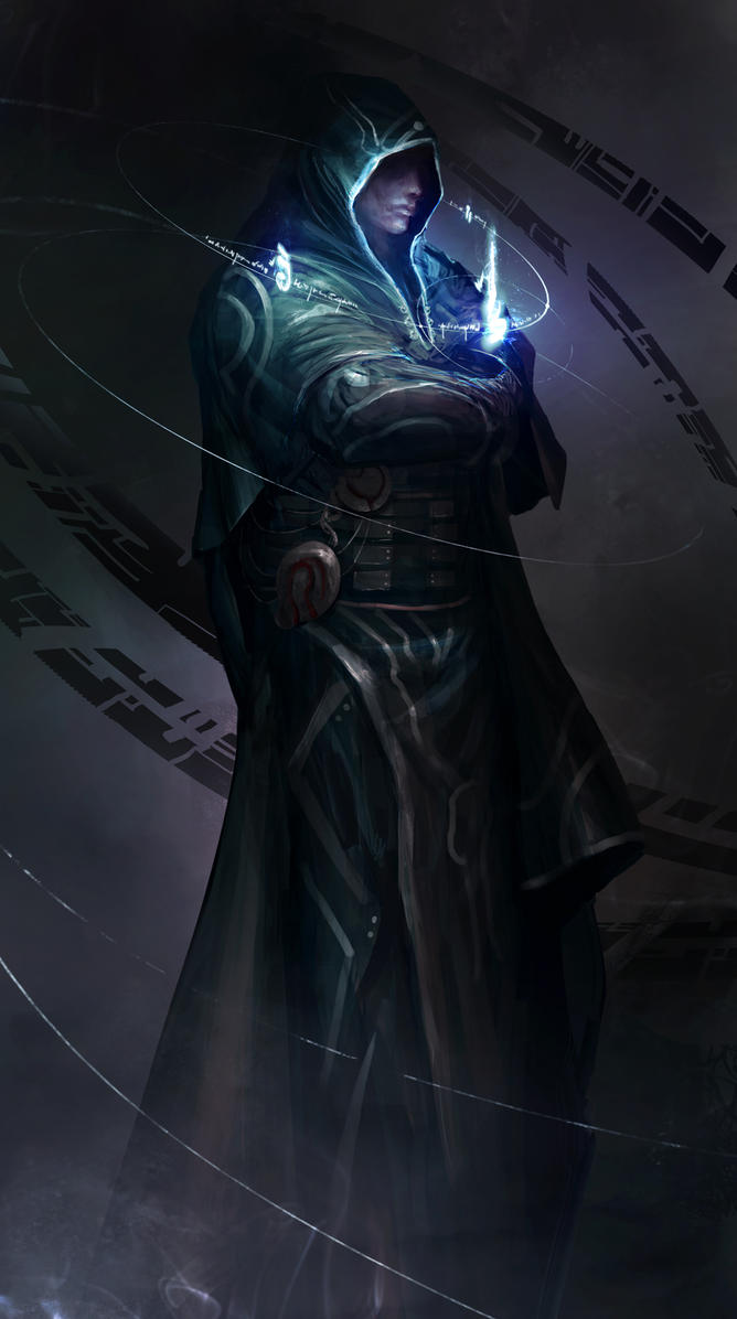 Jace Beleren, the architect of glowing blue stuff by theDURRRRIAN