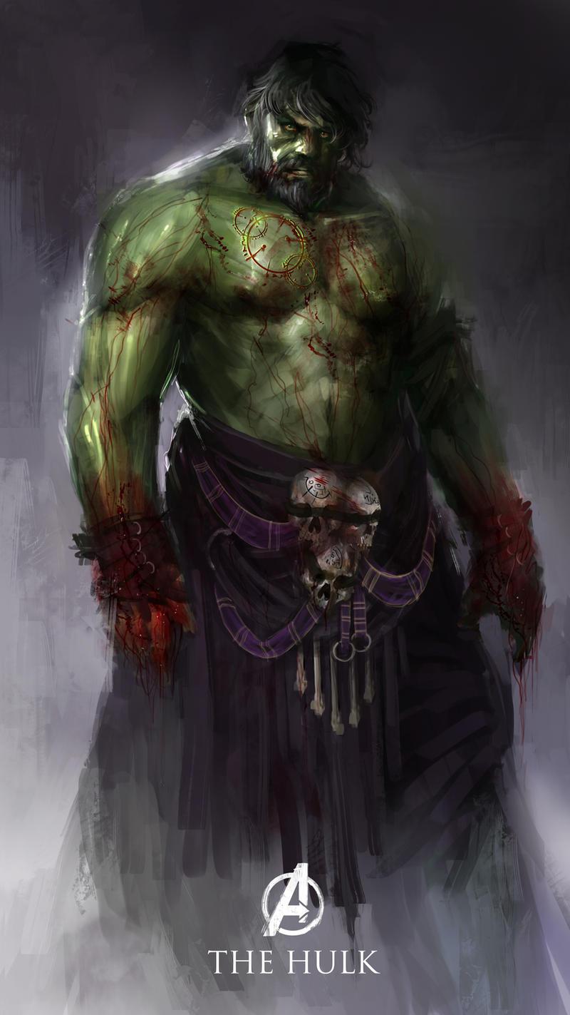 Hulk the bloodied titan