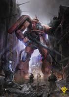 One Year War: Char Zaku by theDURRRRIAN