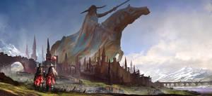 Equine ego statue