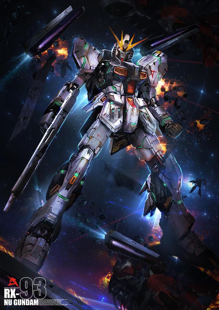 Nu Gundam by theDURRRRIAN