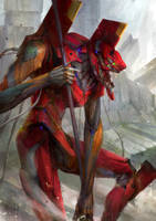 Evangelion - Unit 02 by theDURRRRIAN