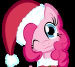 Merry Christmas Pinkie Pie Vector