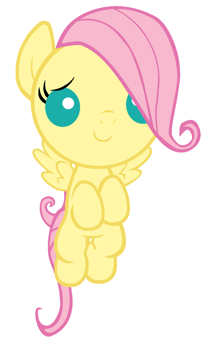 Filly fluttershy vector by TheMightySqueegee