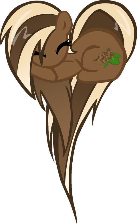 White chocolate swirl heart pony by TheMightySqueegee