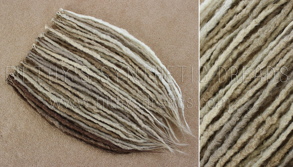 blonde synthetic dreads by FilthyDreads