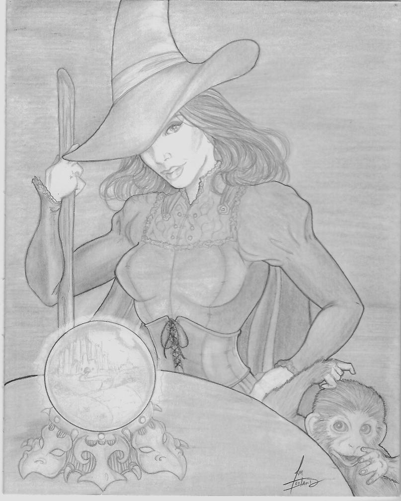 Wicked Witch Drawings Wicked Witch Elphaba