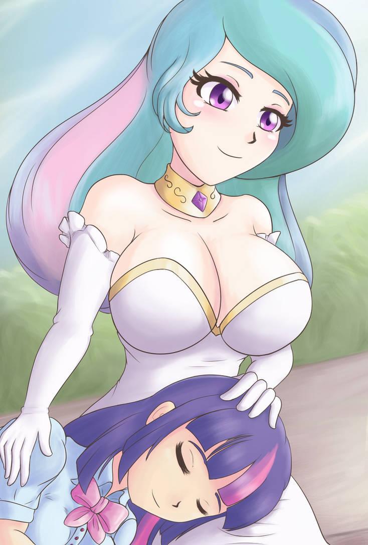 Celestia and twilight