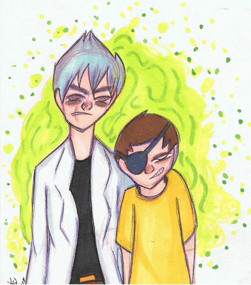 Evil Rick And Morty by Akikko2309