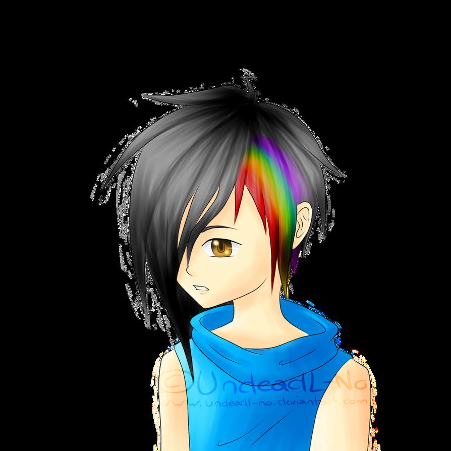 Rainbow In Tha Hair~ o3o by LackBrainLewis