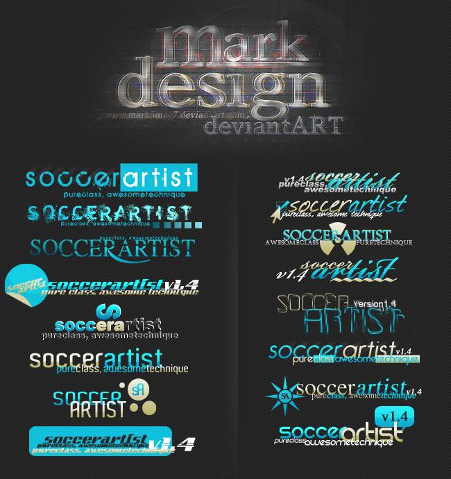 SoccerArtist Logos by markomac7