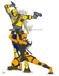 DeathStroke and Tigress (Brunette)