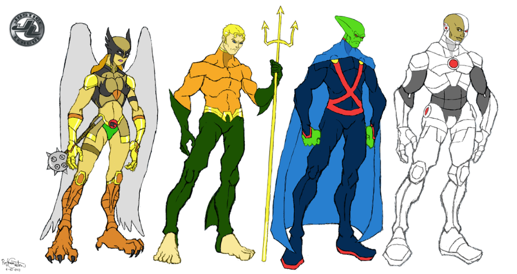 Cartoon Characters Justice League : Justice league character models team b by rothekid on