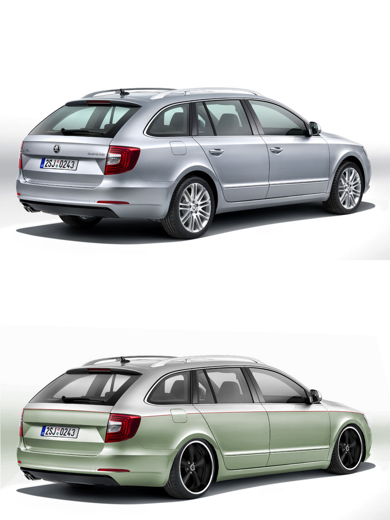 2014 skoda octavia superb dub style virtual tuning by qw3rtz on deviantart. Black Bedroom Furniture Sets. Home Design Ideas