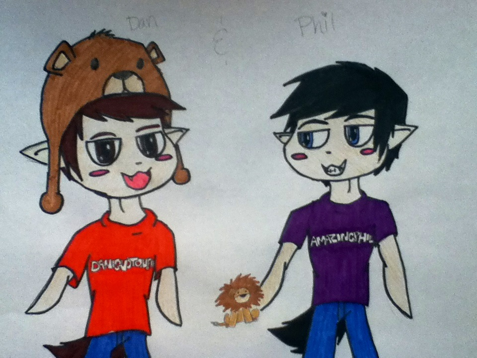 how to draw dan and phil chibi