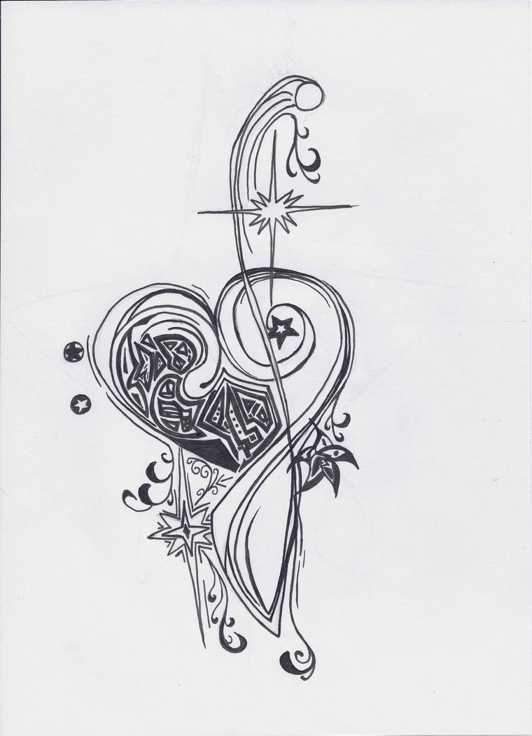 bass and treble clef tattoo design by toadinajellyjar on deviantart. Black Bedroom Furniture Sets. Home Design Ideas