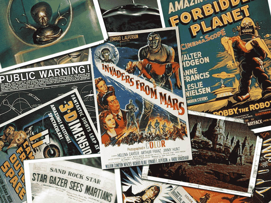50s Sci Fi Wallpaper By Xclonex