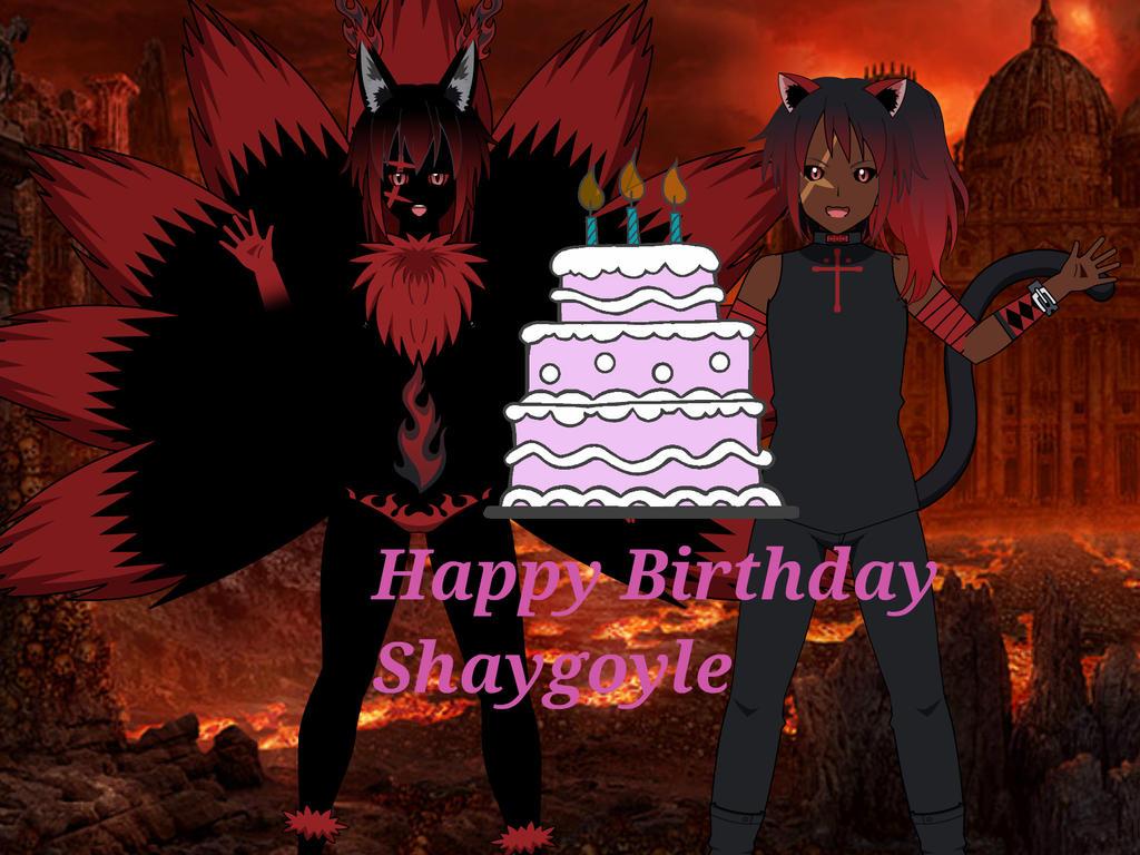 Happy Birthday from  Demon realms , Shaygoyle!!! by Spivey00