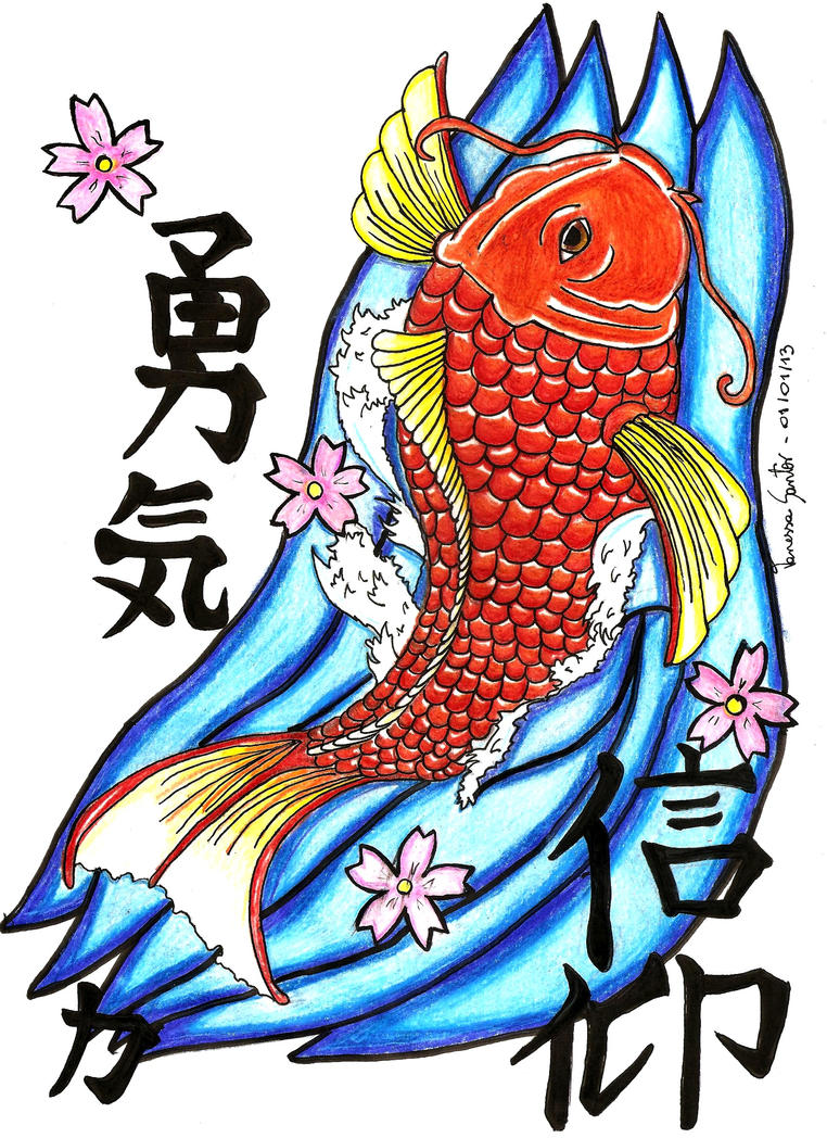 Carpa koi by nessiesantos on deviantart for Carpa koi costo