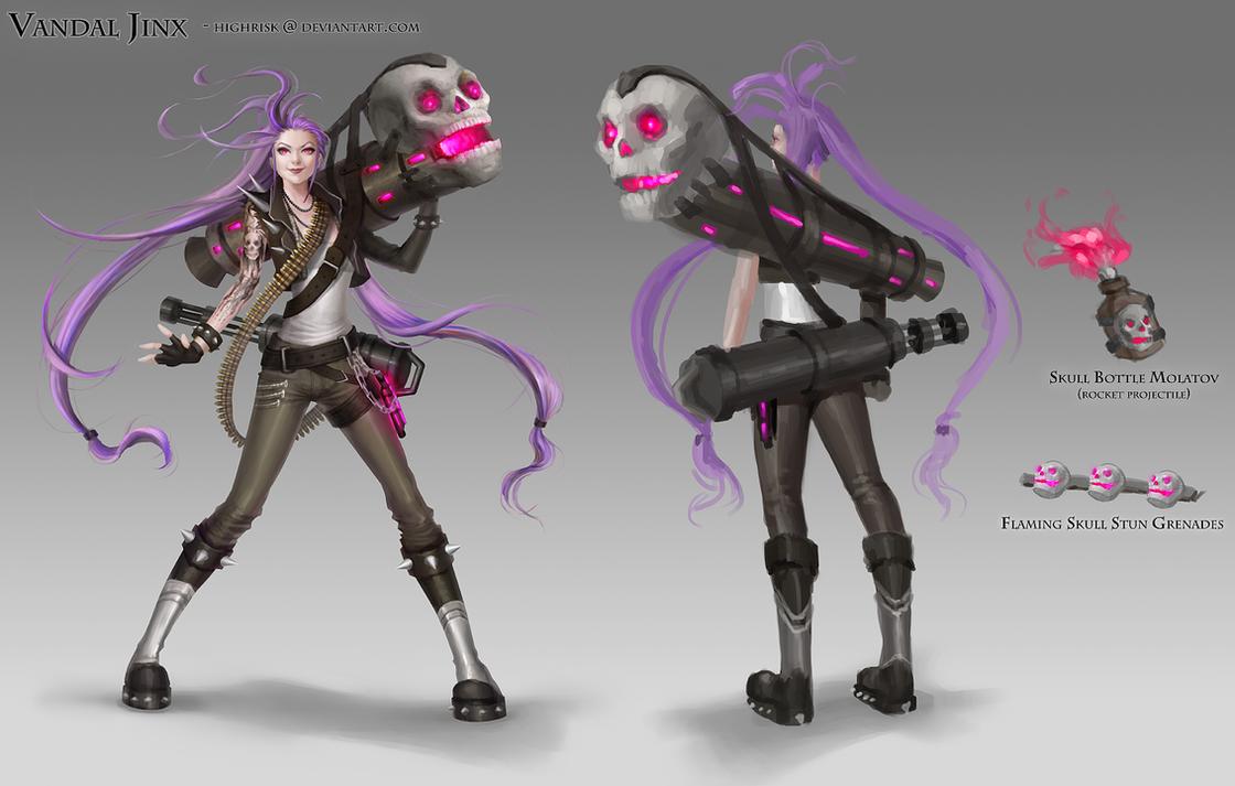Vandal Jinx - Skin Concept by HighRisk