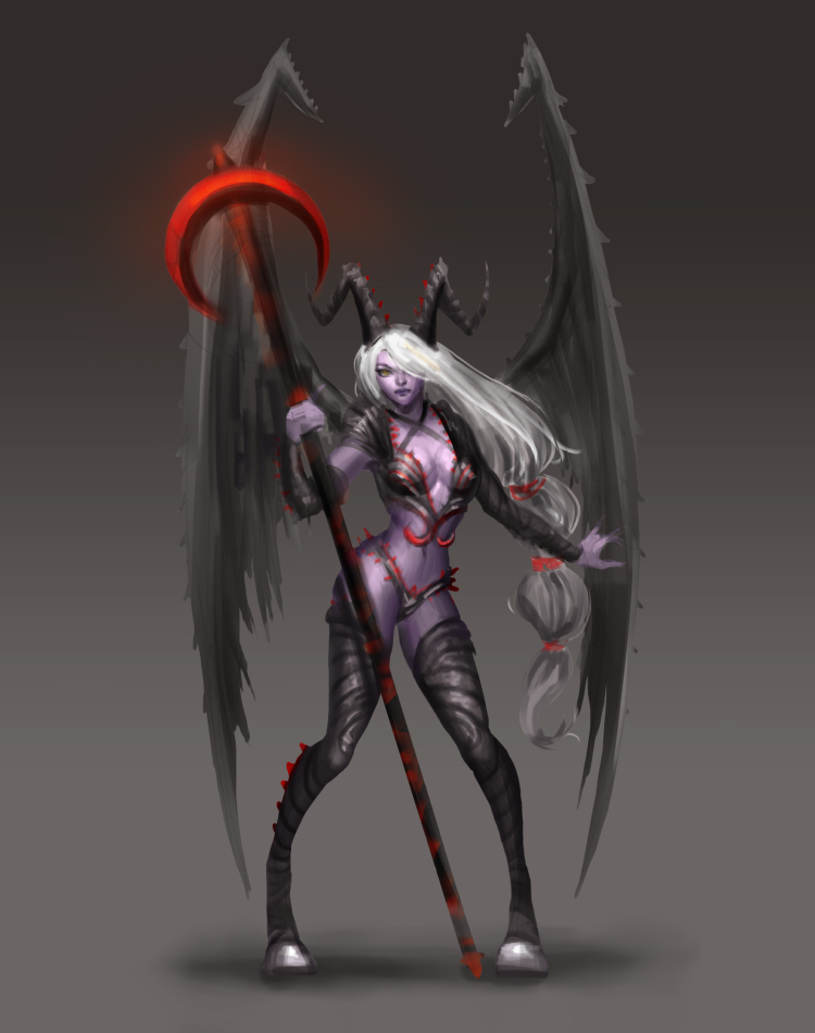 Succubus Soraka Sketch by HighRisk
