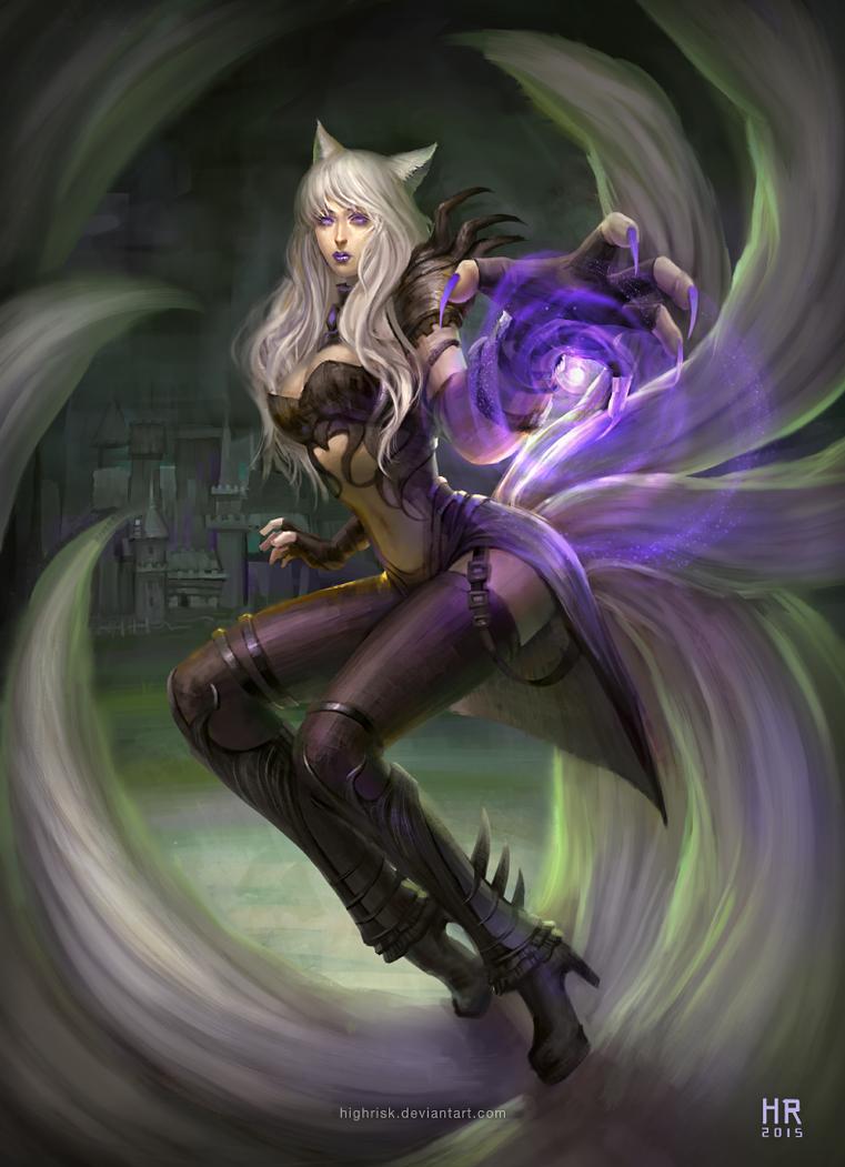 Warlock Ahri - League of Legends Skin Idea by HighRisk