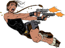 Lara Croft Doodle no.1 by twicebefore