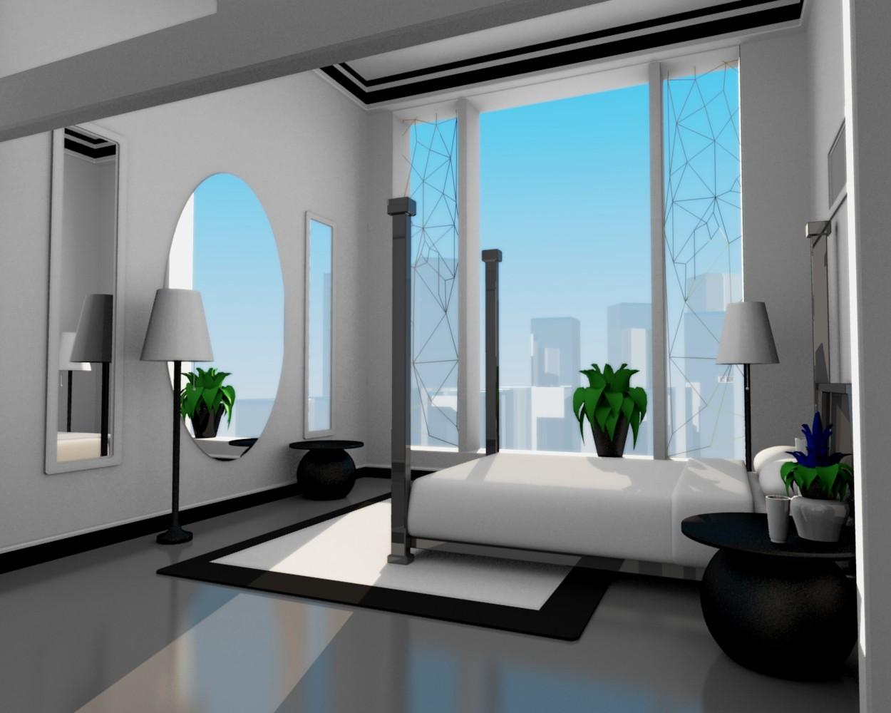 """Dream Apartment"" Bedroom 1 by flowermuncher on DeviantArt"