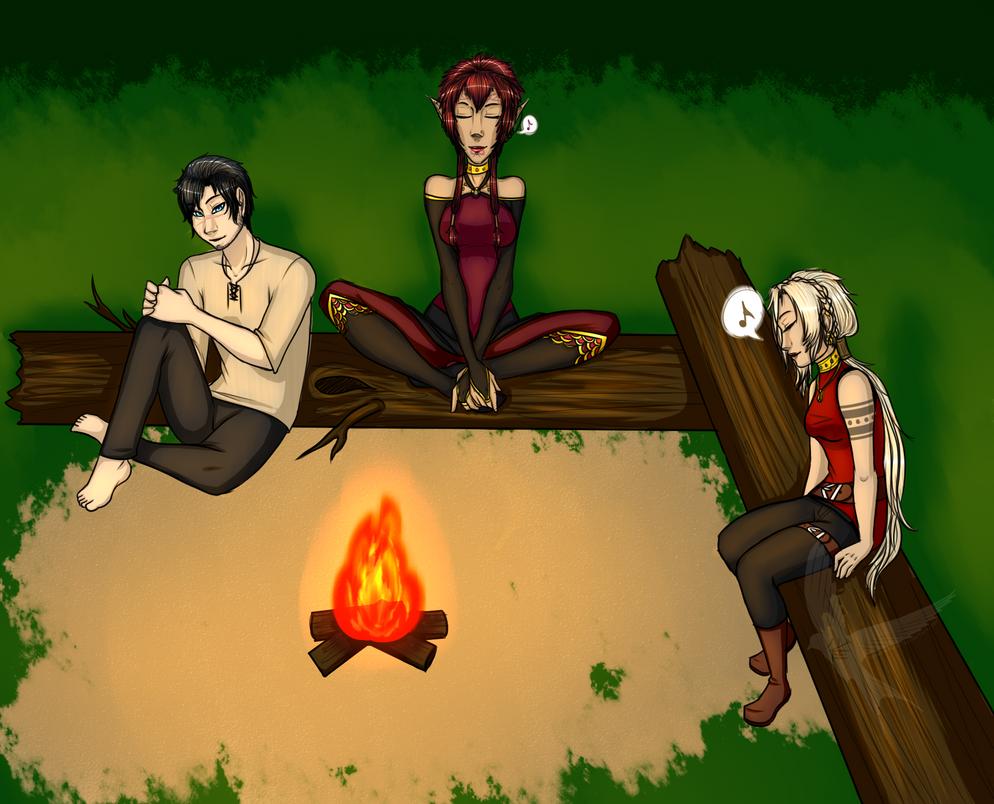 Campfire Melodies by SuzumeKirei