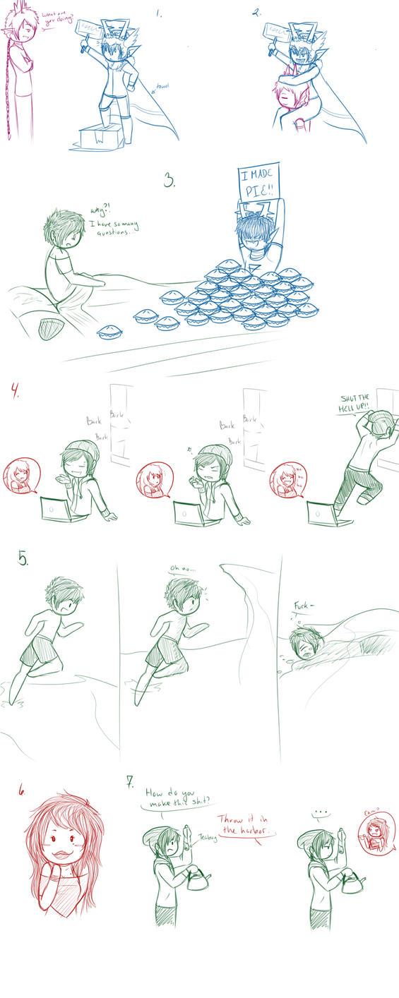 Fantroll and Fankid doodles by SuzumeKirei