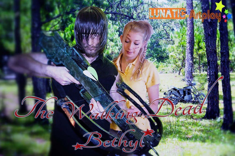 Bethyl Daryl Dixon and Beth Greene Cosplay by Kaorulein