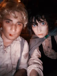 I am glad you are here with me~ Sam/Frodo Cosplay