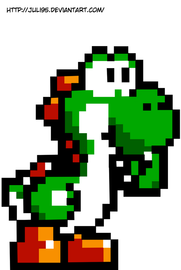 Yoshi Pixel by juli95 on DeviantArt