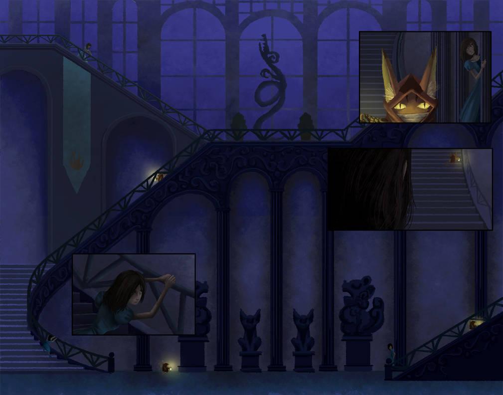 The Hallway Maze by ebonysnowwhite