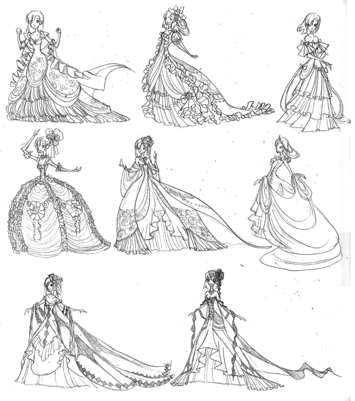 Rosalie\'s Ballroom Gowns by ebonysnowwhite on DeviantArt