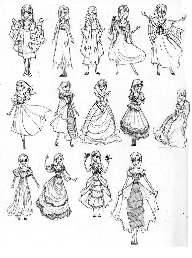 Princess Dress Designs by ebonysnowwhite