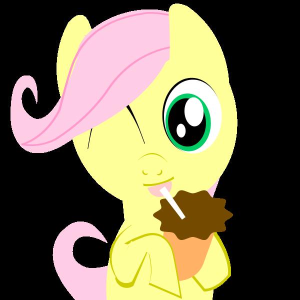 Bo2 Fluttershy Filly Chocolate Milkshake Emblem by ...