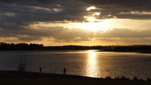 Sunset over Pitsford Water