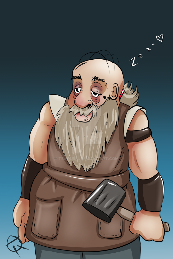Dolan the Drowsy Dwarf by TeaQuill