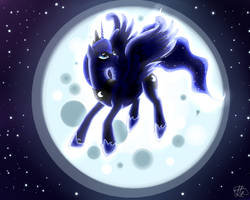 Princess Luna by AntharesMK