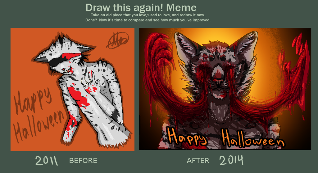 Draw this again meme: Halloween by AntharesMK
