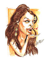 Aishwarya Rai - Caricature by libran005